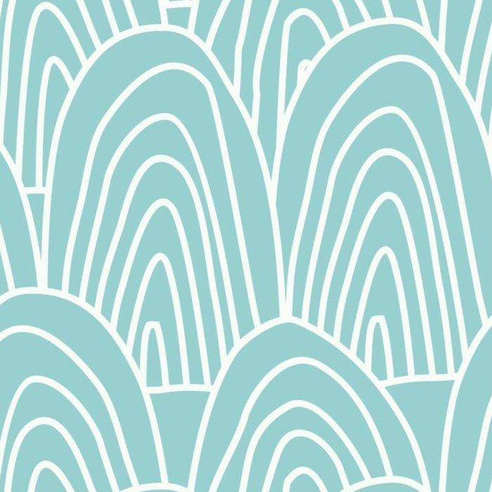 Blue Scribbles Pattern 09 Leggings