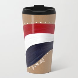 Red White and Blue Travel Mug