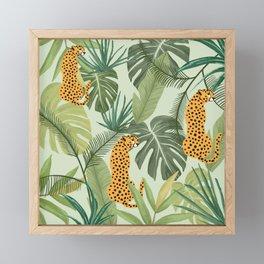 Leopards in Meadows Framed Mini Art Print