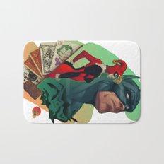 Deadly Hand - Bat man, Harley Quinn and Joker (TS color) Bath Mat