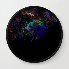 Dark Splats Wall Clock