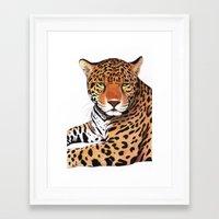 jaguar Framed Art Prints featuring Jaguar by Savousepate