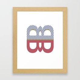 twins in the same class #1 (kristen) Framed Art Print