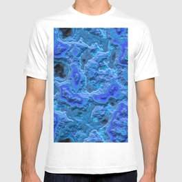 Water blue marble relief  T-shirt