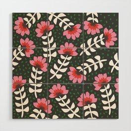 Camelita Retro Folk Flower Wood Wall Art