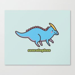 Saurolophus Canvas Print