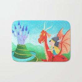 The Girl and The Dragon Bath Mat