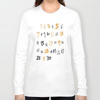 numbers Long Sleeve T-shirts featuring prime numbers by taichi_k