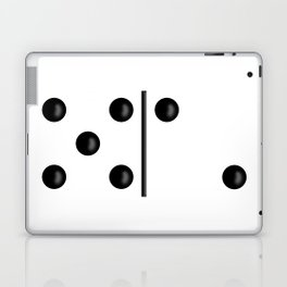 White Domino / Domino Blanco Laptop & iPad Skin