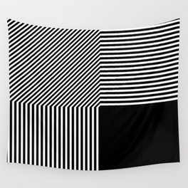 Geometric abstraction, black and white Wall Tapestry