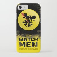 watchmen iPhone & iPod Cases featuring Watchmen poster by Lionel Hotz