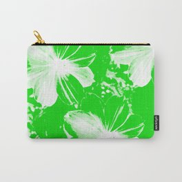 Green Flowers Carry-All Pouch