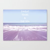 salt water Canvas Prints featuring Salt Water by Hannah Badger