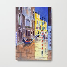 Reflections Of Venice Italy Metal Print