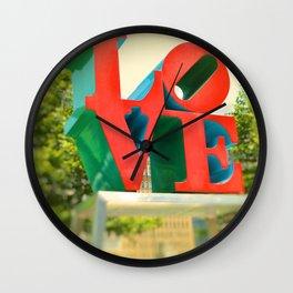 Philadelphia Love Wall Clock