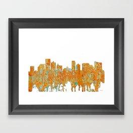 Atlantic City Skyline - Rust Framed Art Print