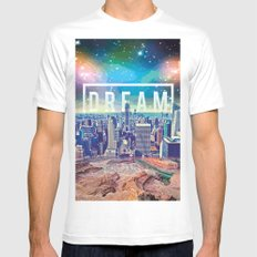 dreamcity3 White MEDIUM Mens Fitted Tee