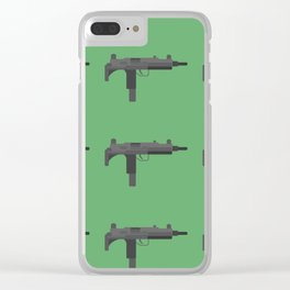Uzi submachine gun Clear iPhone Case