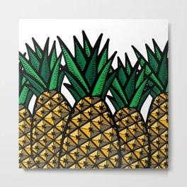 Pineapple Field Metal Print