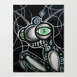 Grasshoppin martix stlye Canvas Print