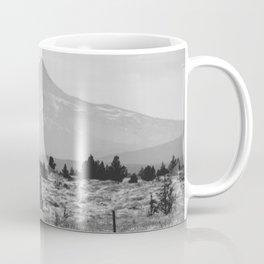 Desert Mountain Black and White Coffee Mug