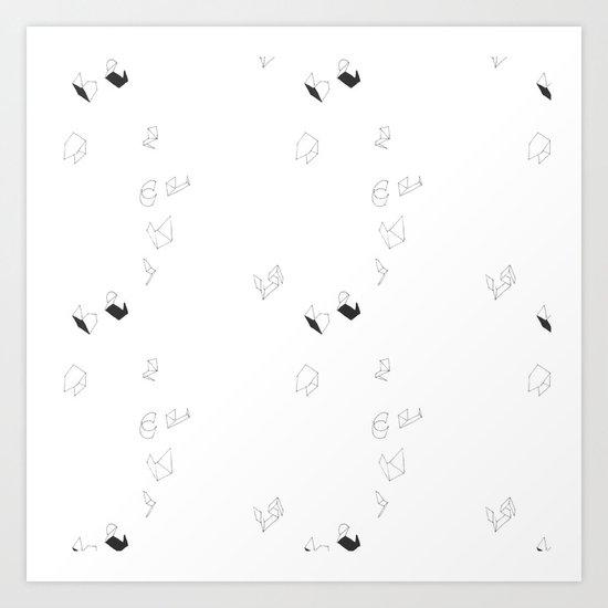 Origami Print Art Print