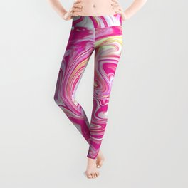 WHIRLING PINK AND GOLD Leggings