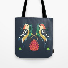 Red-bellied Woodpecker + Red Pine Tote Bag