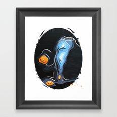 The monster and I Framed Art Print