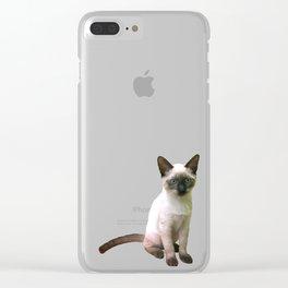 Siamese Kitten Clear iPhone Case