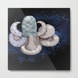 Space station from the fantastic world of the future . artwork Metal Print