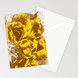 Yellow Rose Watercolor Stationery Cards