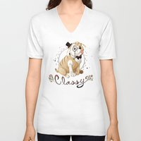 classy V-neck T-shirts featuring Classy by Jelly and Paul