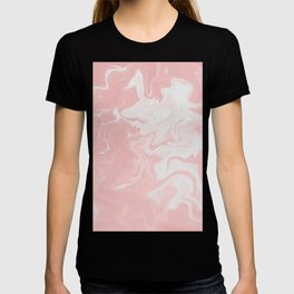 Pink, White, Marble. T-shirt