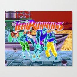 Teen Runnings - SF Canvas Print