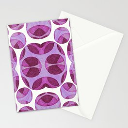 Purple circle web pattern Stationery Cards