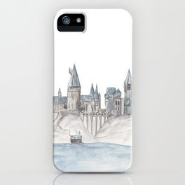 Castle (gray and blue) iPhone Case