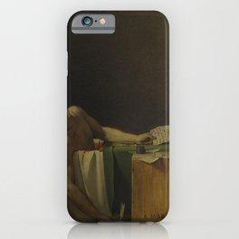 Jacques-Louis David - The Death of Marat iPhone Case