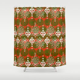 lotus diamond festive Shower Curtain