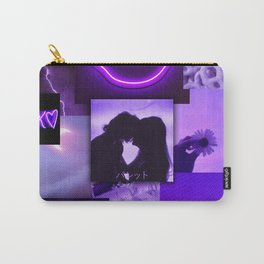 Purple love aesthetic ollage Carry-All Pouch