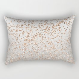 Glitter sparkle mix - rose gold & silver Rectangular Pillow