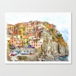 Manarola, Cinque Terre Italy Canvas Print
