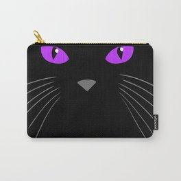 Black cat hiding in the shadows Carry-All Pouch