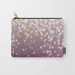 PLUM PURPLE AND GOLD CHAMPAGNE GLITTER LIGHTS Carry-All Pouch
