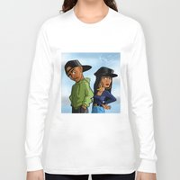 tupac Long Sleeve T-shirts featuring Poetic Justice by Kimbo Henry