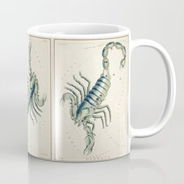Scorpio Horoscope Vintage Illustration Coffee Mug