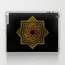 Golden Decorative Star of Lakshmi - Ashthalakshmi Laptop & iPad Skin