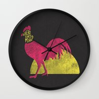 pixies Wall Clocks featuring Where is my mind? by MidnightCoffee