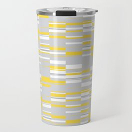 Mosaic Rectangles in Yellow Gray White #design #society6 #artprints Travel Mug