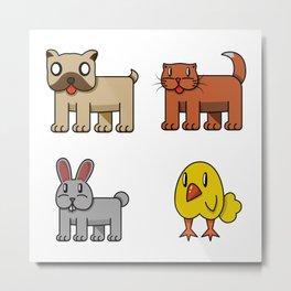 pets Metal Print